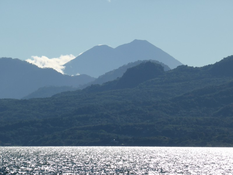 Actenango and Volcán Agua as seen from San Pedro