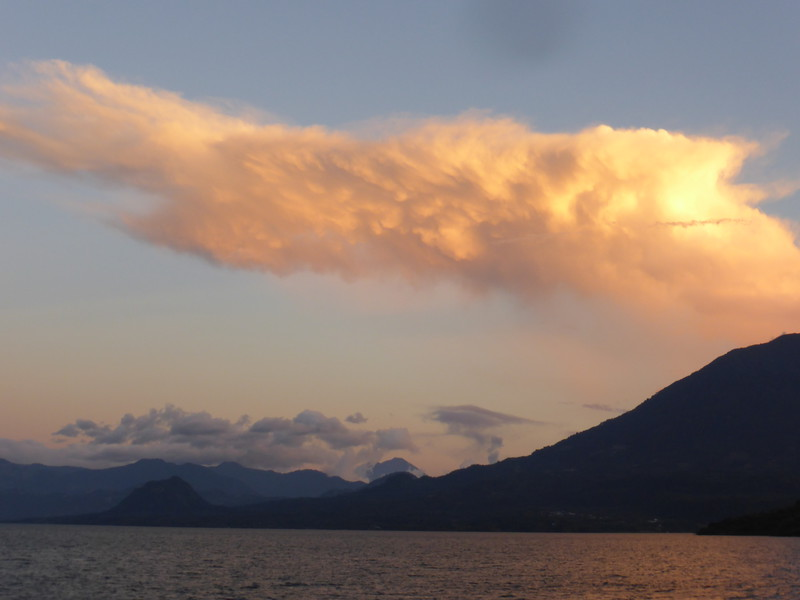 The sunsets over Lago de Atitlán are wonderful