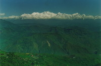 The Himalayas as seen from Darjeeling