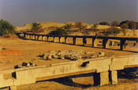 The old city's aqueduct system