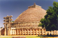 The main stupa at Sanchi