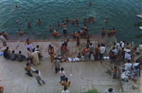 Locals bathing in the Ganges