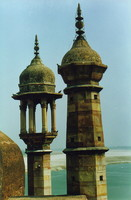 Minarets on the Great Mosque of Aurangzeb