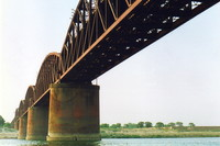 The railway bridge over the Ganges