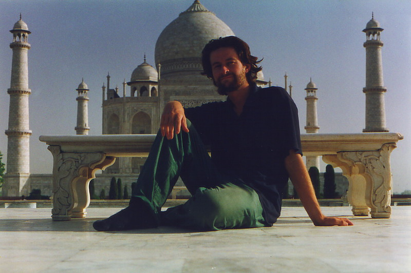 Mark in front of the Taj