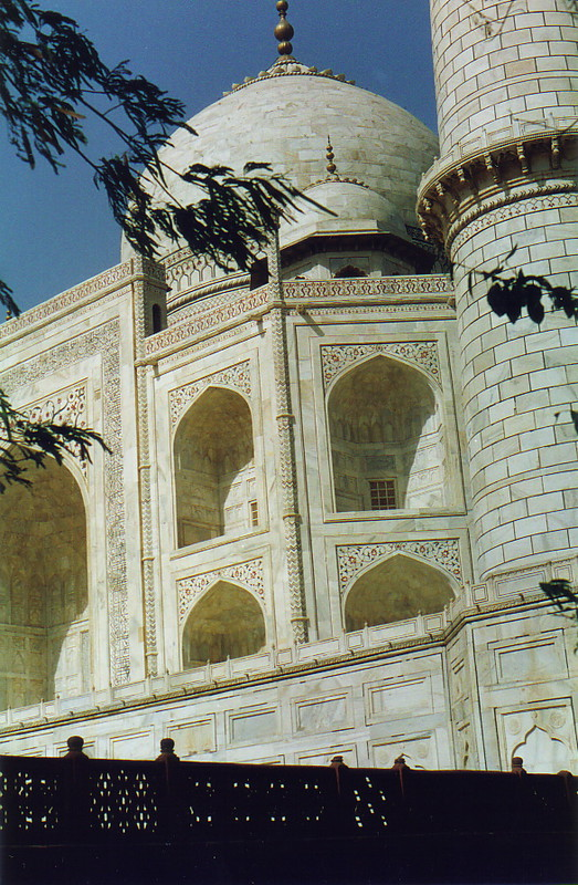 A close up of the Taj Mahal