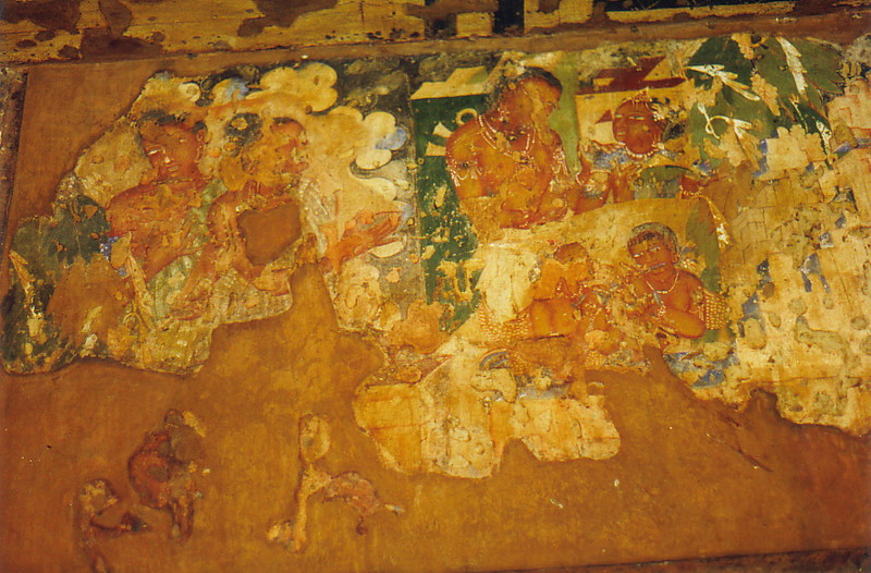 A cave painting in Ajanta
