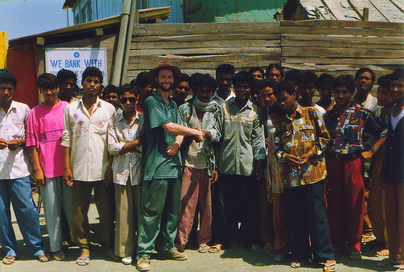 Mark with the locals of Alang