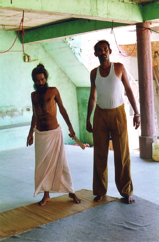 The head of the ashram (left) and his right-hand man