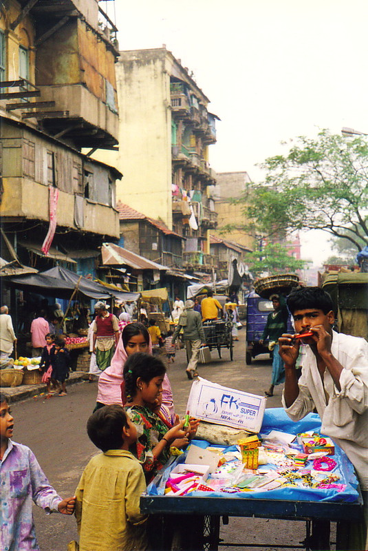 A man selling wares in Calcutta