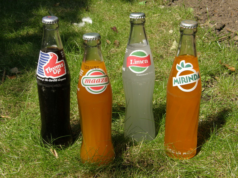 Bottles of Thums Up, Maaza, Limca and Mirinda
