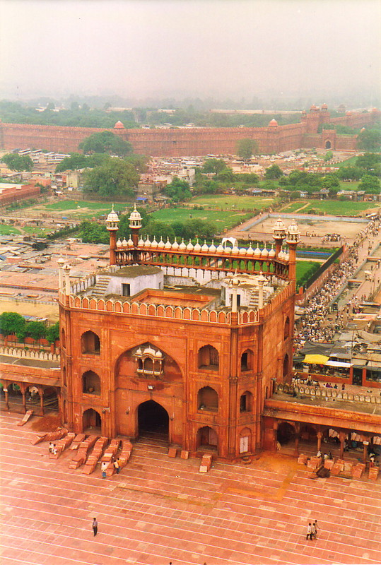 The view from above the Jama Masjid