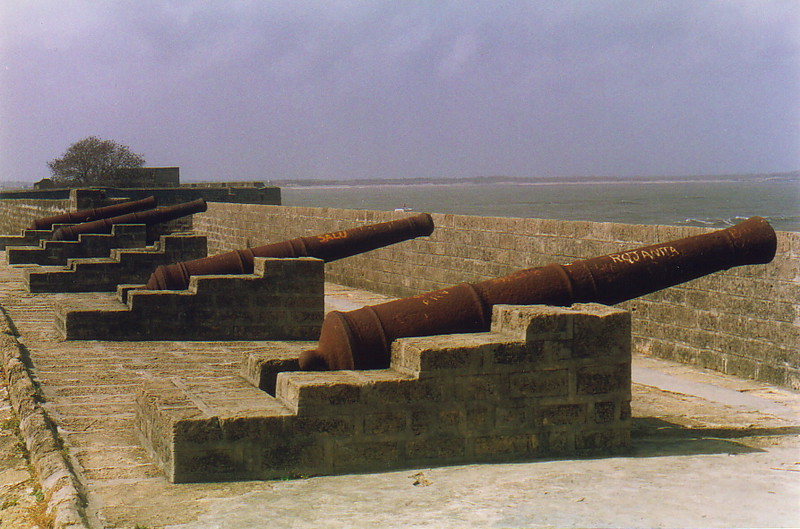 Cannons at Diu Fort