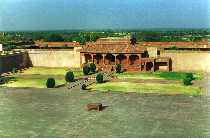 The main square of old Fatehpur Sikri