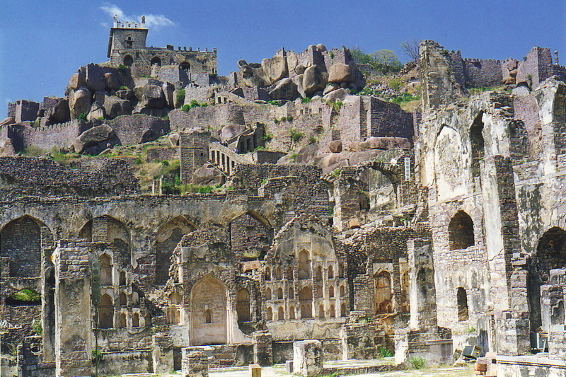 The ancient ruins of Golconda Fort