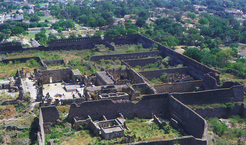 The old city surrounding Golconda