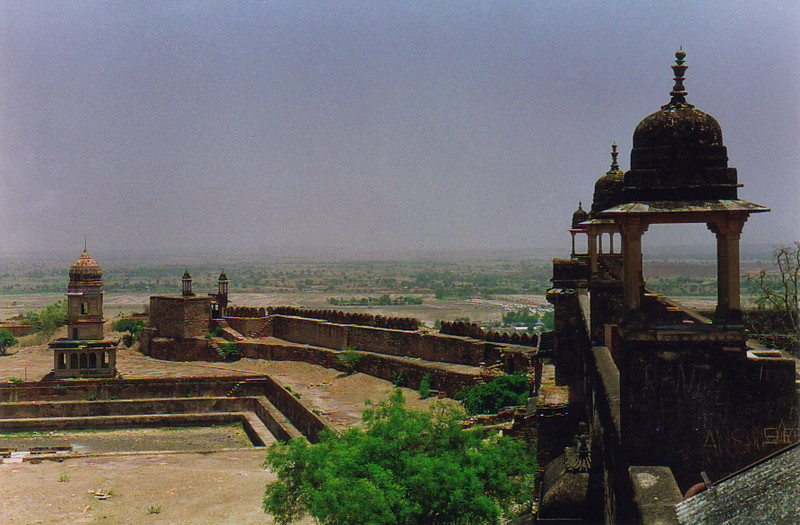 Pavilions on top of the northern end of Gwalior Fort