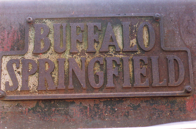 A sign saying 'Buffalo Springfield'