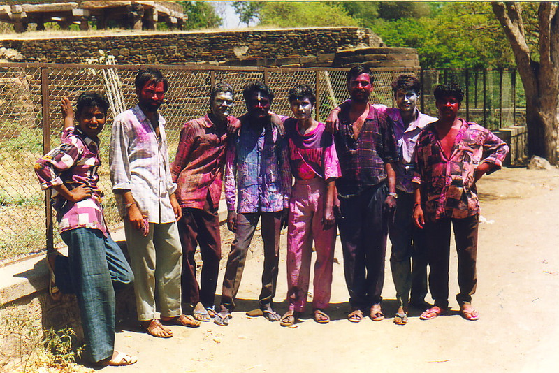 Young men in Bijapur at Holi