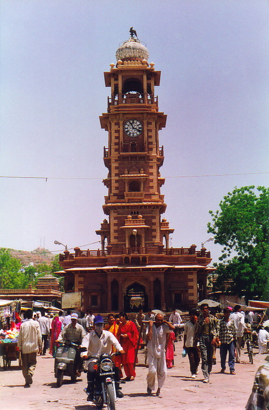 The clock tower in Sardar Market