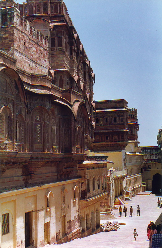 The inside of Mehrangarh Fort