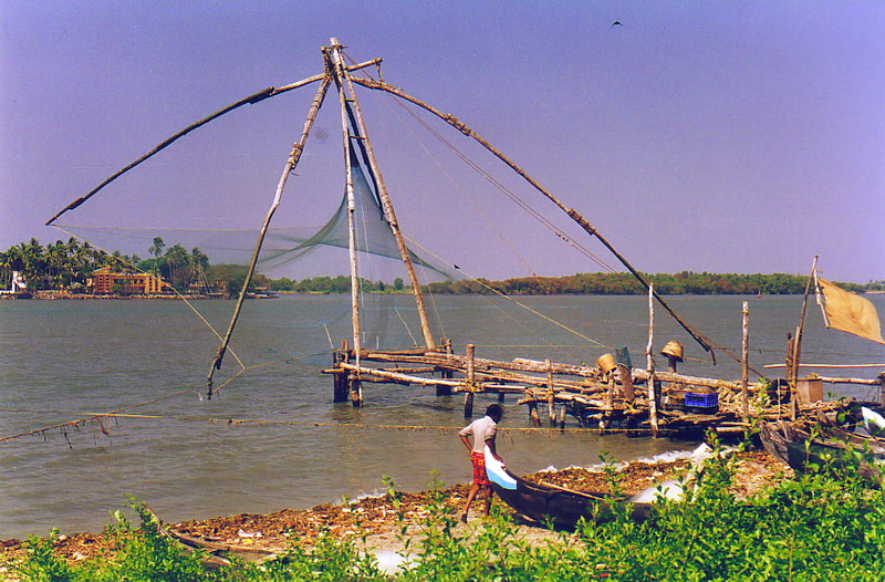 The strange fishing nets of Kochi