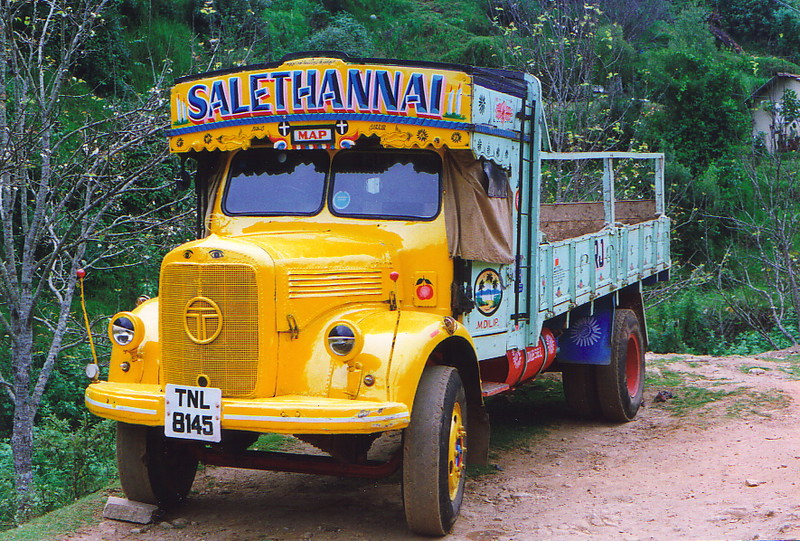 A colourful Indian truck