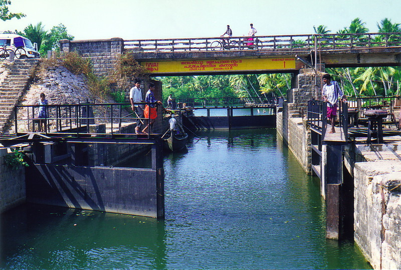 A lock on the backwaters