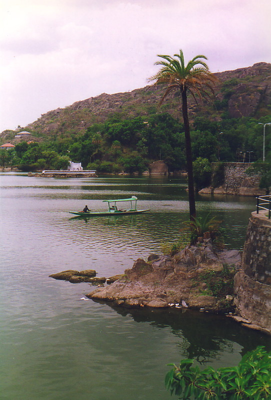 A boat on the lake at Mt Abu