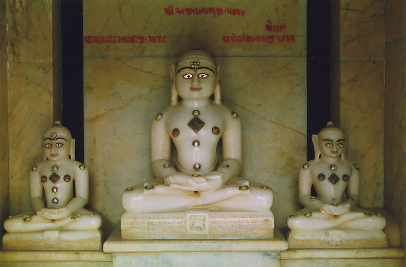 Three tirthankar statues