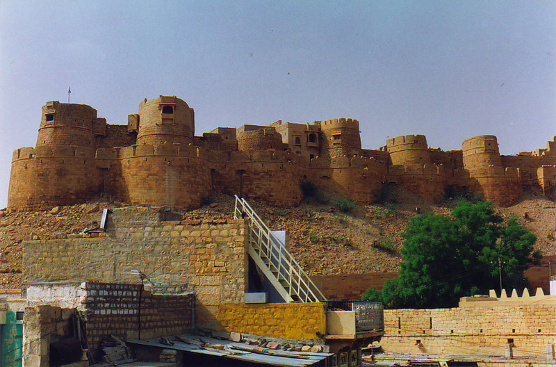 The turrets of Jaisalmer Fort