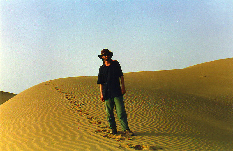 Mark in the desert