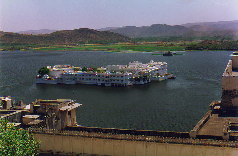 The Lake Palace Hotel from the City Palace