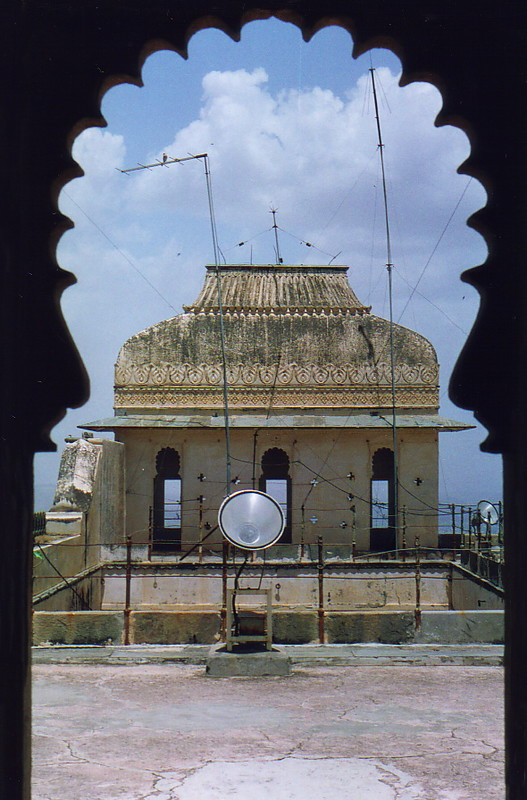 Antennae on top of the Monsoon Palace