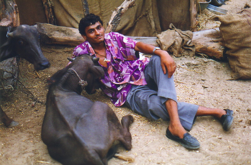 Urma and his water buffalo