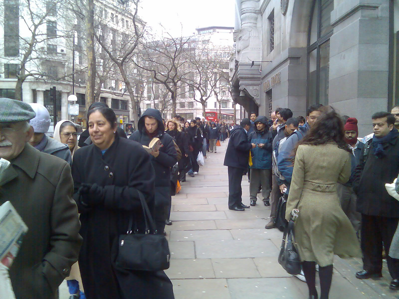 The visa queue at the Indian High Commission, London