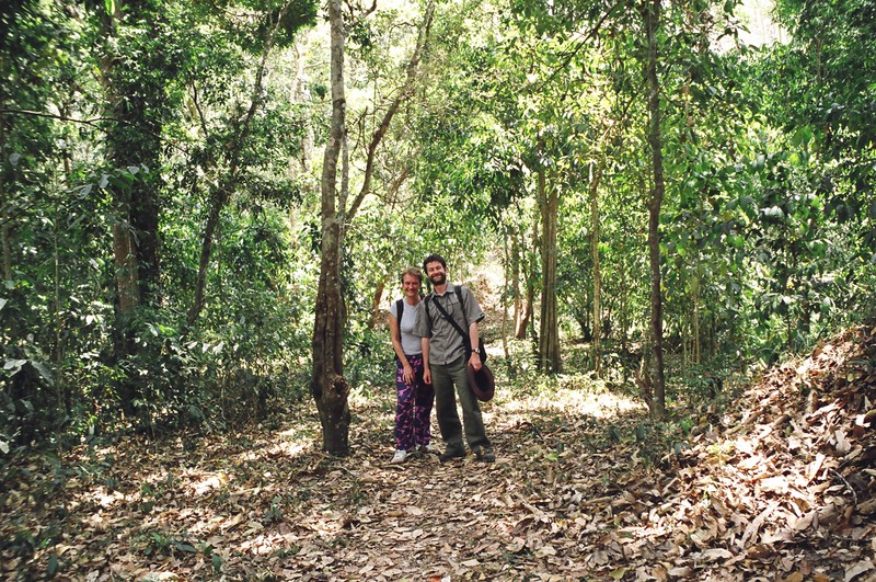 Peta and Mark in the rainforest of Periyar