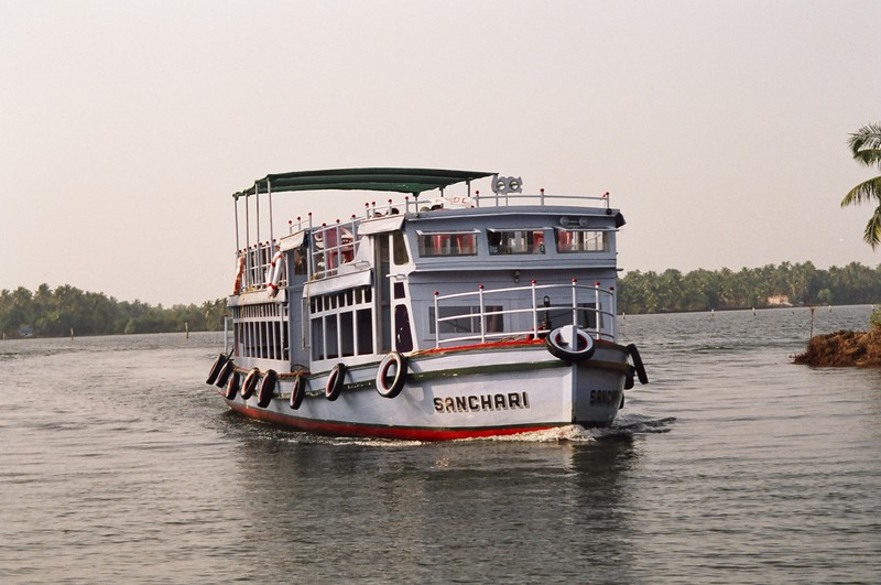 A public ferry on the backwaters