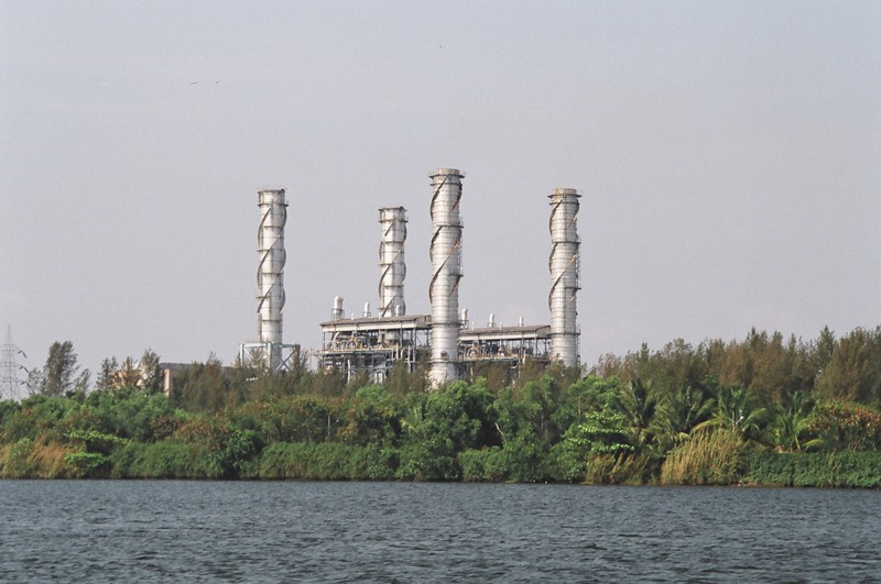 A power station on the backwaters