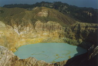 The blue lake at Keli Mutu