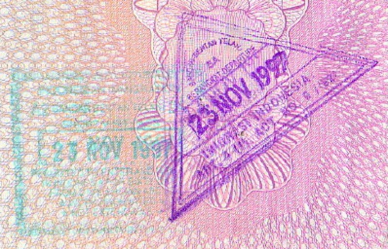 The 60-day visa stamp in a passport