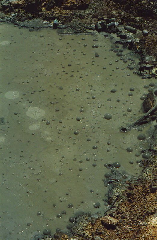 A pool of bubbling mud