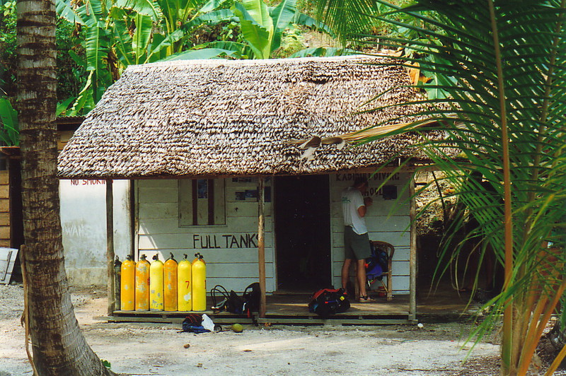 The dive centre on Kadidiri Island