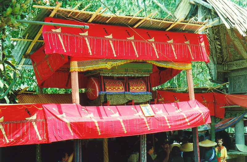 The colourful coffin at a Torajan funeral in Buntulepong