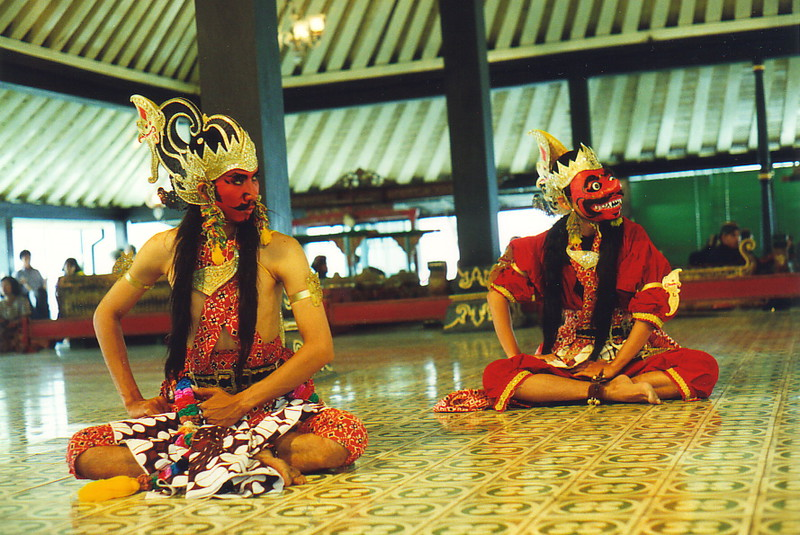 The Ramayana being performed in Yogya