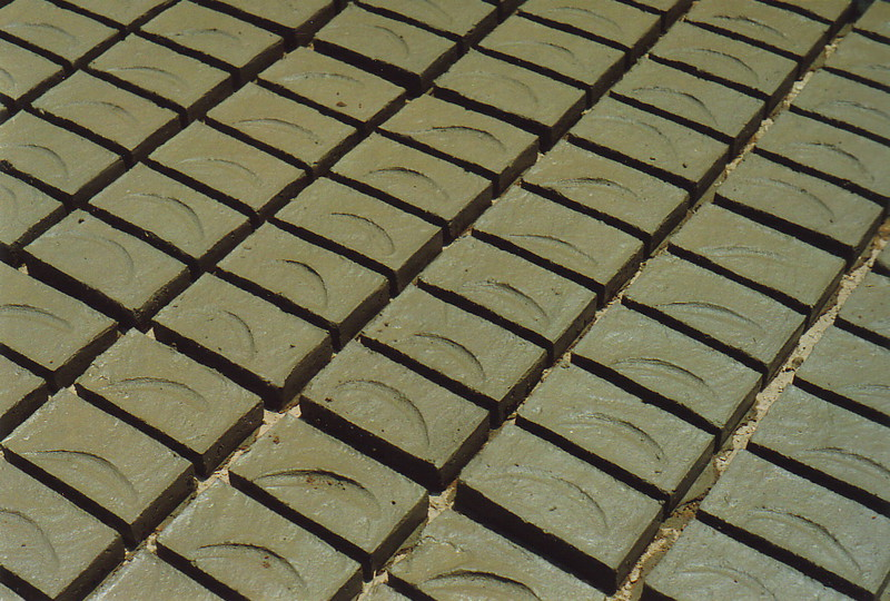 Bricks drying in the sun