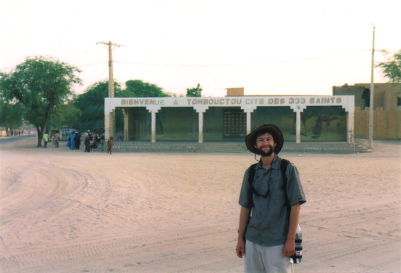 Mark wearing his hat in Timbuktu