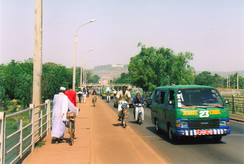 A busy road in Bamako