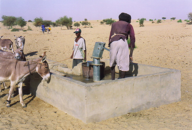 A water pump in the desert