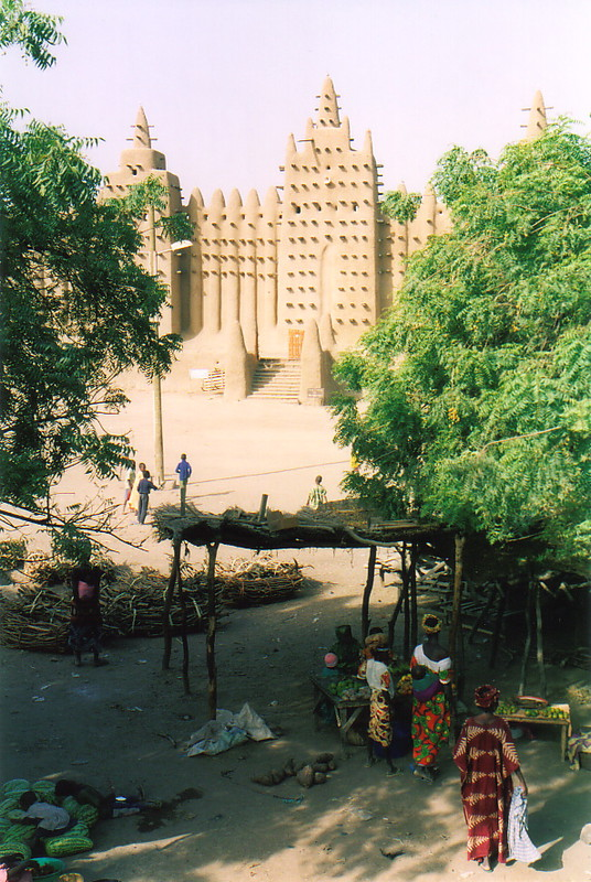 The mud mosque at Djenné